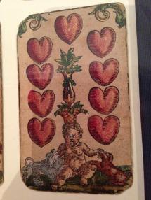 9 of Hearts, From the Playing Cards of Peter Flotner, c 1540.