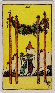 Rider Waite Smith 4 of Wands