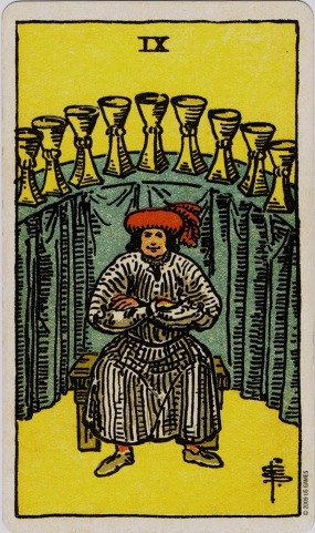 Rider Waite 9 of Cups