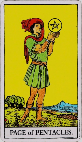 Rider Waite Tarot Page of Pentacles