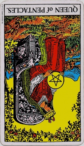 Rider Waite Tarot Queen of Pentacles